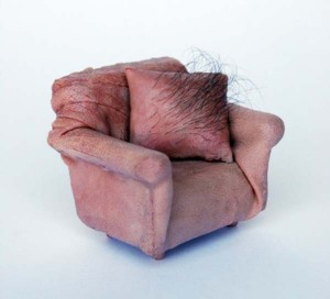 Miniature Furniture Made out of Fake Human Skin (14 photos) 1