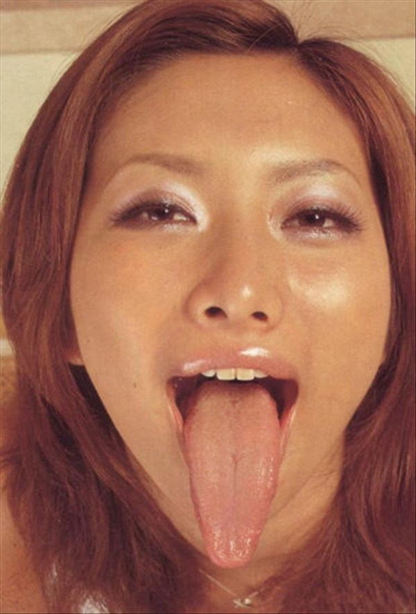 Women with long tongues 13