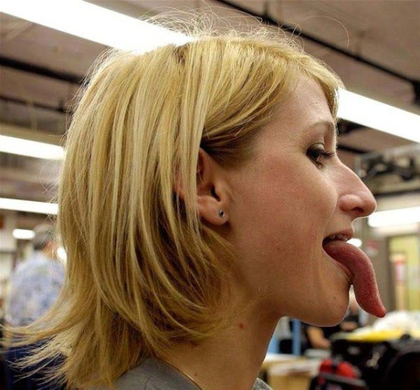 Women with long tongues 39
