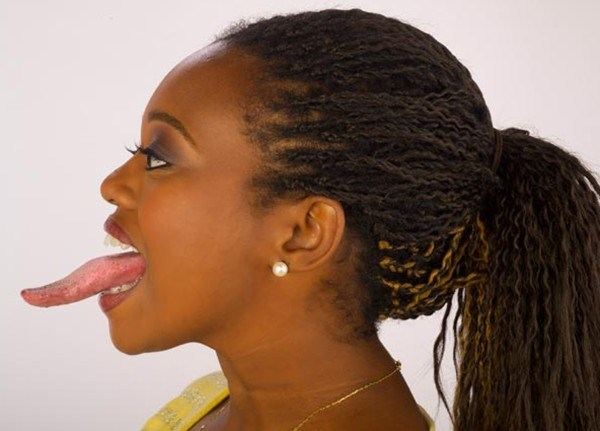 Women with long tongues 44