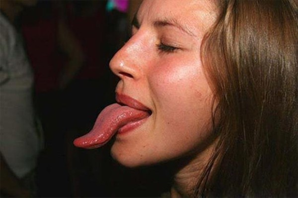Women with long tongues 9