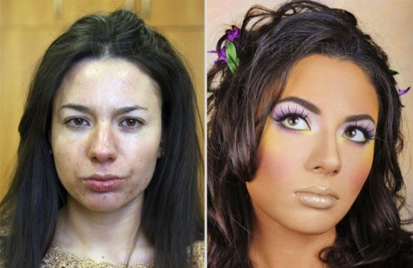 Ordinary Russian Girls Before and After Makeup (20 photos) 1
