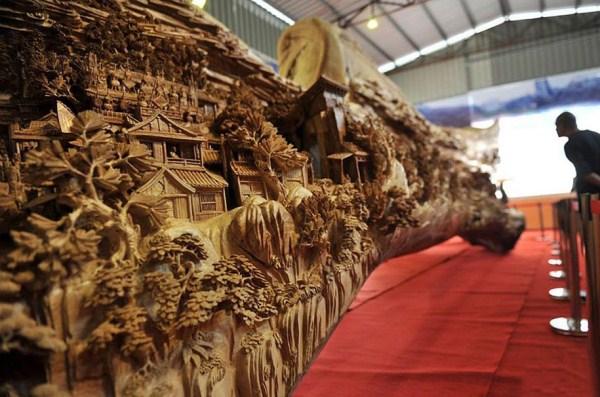 Longest Wooden Sculpture (3)