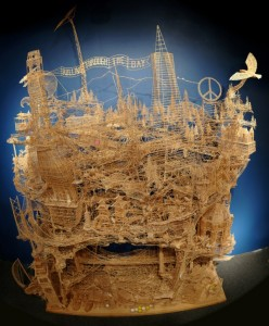 Masterpieces Created Using Only Toothpicks (42 photos) 22