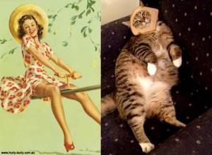 Cats Posing Like Pin Up Girls (24 photos) 20