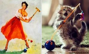 Cats Posing Like Pin Up Girls (24 photos) 8