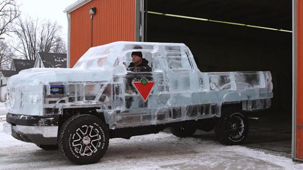 Chevy made of Ice 12 pictures