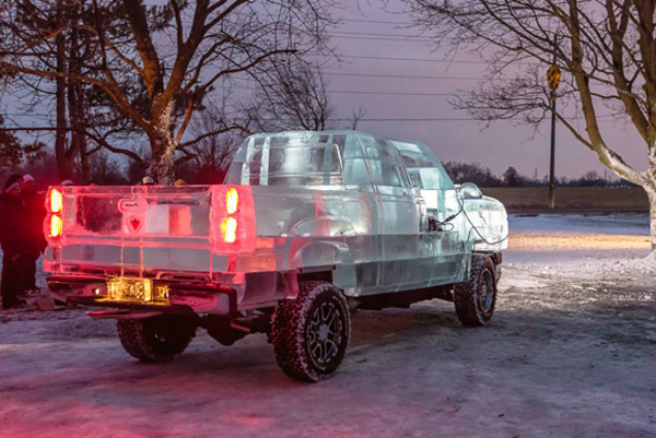Chevy made of Ice 17 pictures