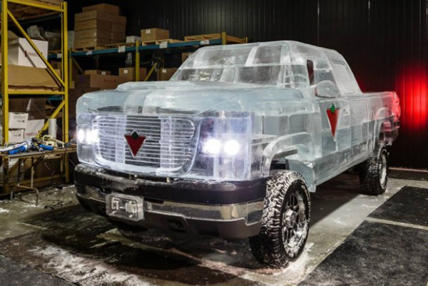 Chevy made of Ice 2 pictures