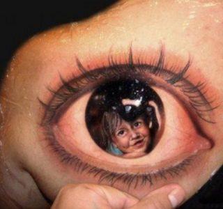 71 Bad-Ass Illusion Tattoos (71 photos)