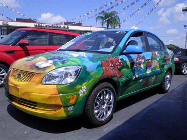 Smurfs Themed Car (14 photos) 1