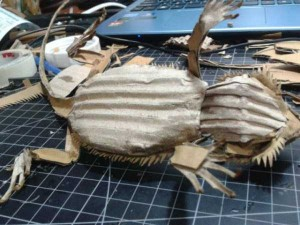Bearded Dragon Made Entirely of Cardboard (24 photos) 13