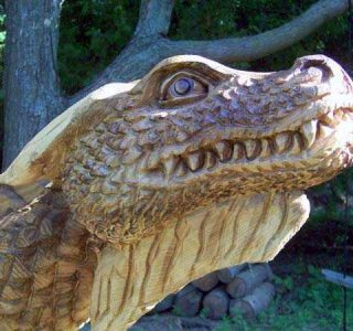 Amazing Dragon Carved Out Of A Tree (5 photos)