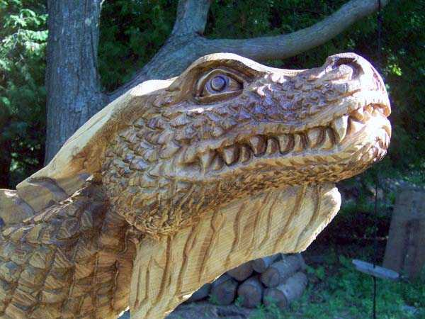 Amazing Dragon Carved Out Of A Tree (5 photos) 5