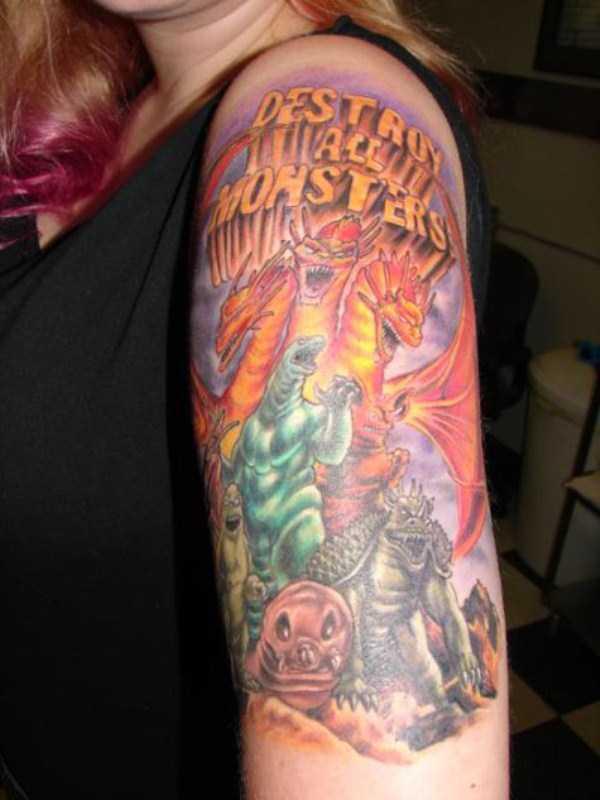 Tatuagens de godzilla (13)
