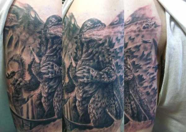 30 Seriously Good Godzilla Tattoos (30 photos) 27