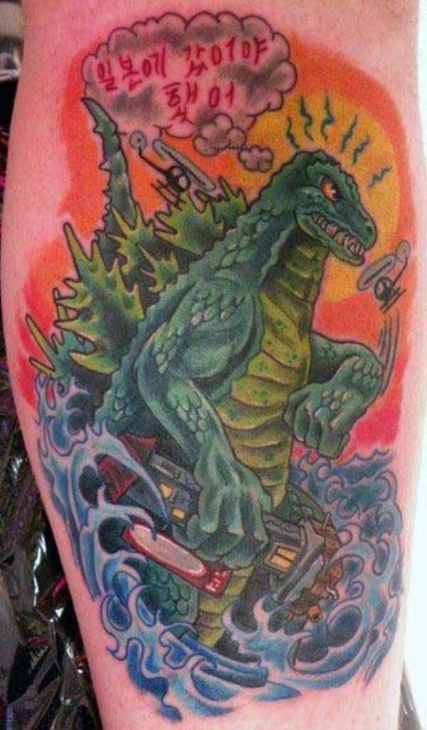 Tatuagens Godzilla (3)