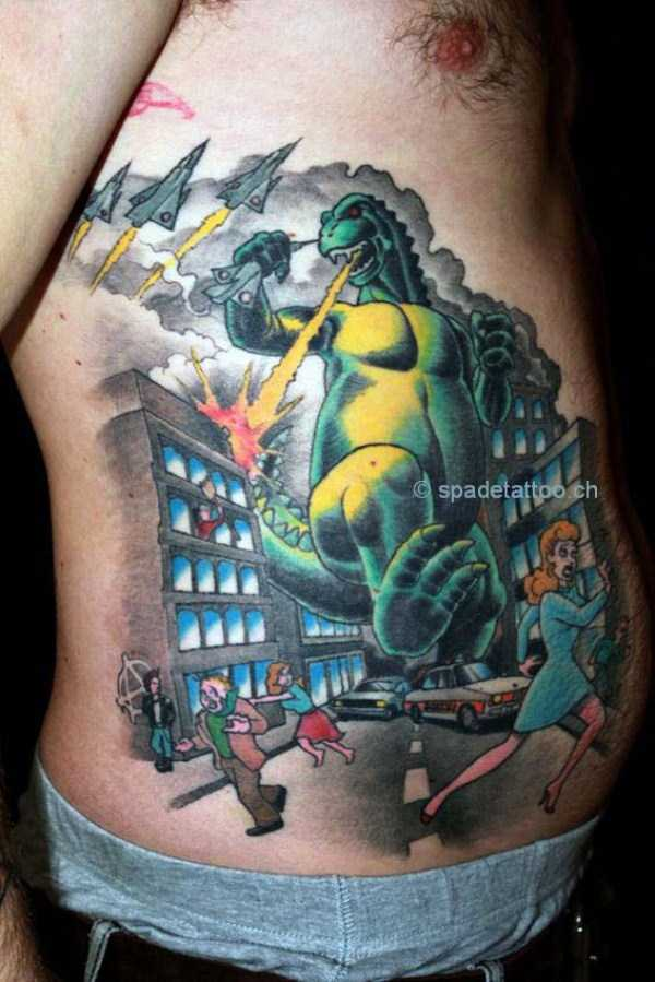 30 Seriously Good Godzilla Tattoos (30 photos) | KLYKER.COM