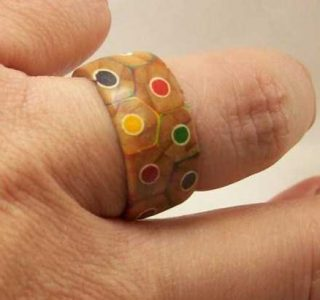 Awesome Ring Made Out of Colored Pencils (14 photos)