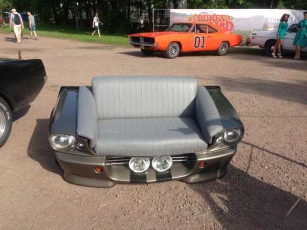 Fully Functional Couch Made From Ford Mustang (24 photos) 21