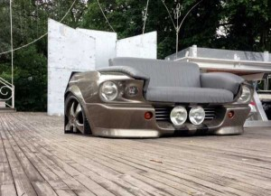 Fully Functional Couch Made From Ford Mustang (24 photos) 24