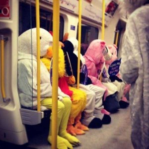Subway is a Perfect Place For Weird People (30 photos) 17