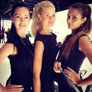 Attractive Hostesses of Moscow Car Show Taking Selfies (26 photos) 13