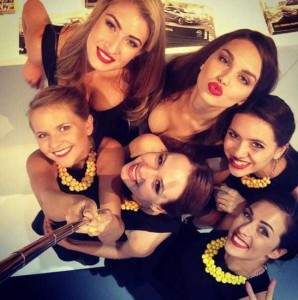 Attractive Hostesses of Moscow Car Show Taking Selfies (26 photos) 15