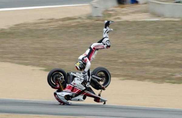Part-time race, part-time stunt devil.