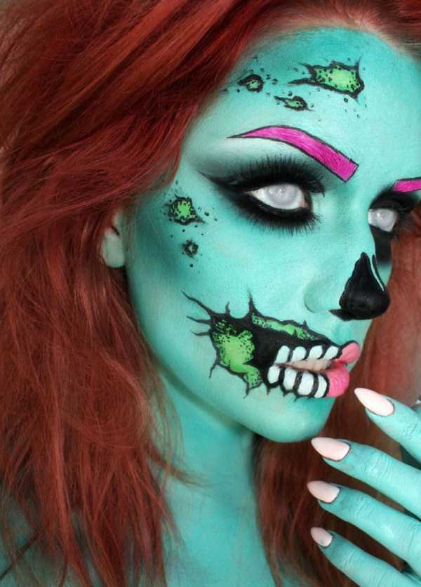realistic halloween makeup ideas 4 pictures