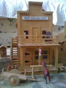 An Old West Town Made Entirely Out of Popsicle Sticks (28 photos) 3