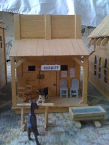 An Old West Town Made Entirely Out of Popsicle Sticks (28 photos) 4