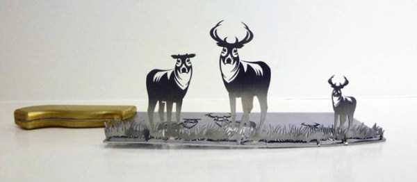 Beautiful Silhouettes Made of Butcher Knife's Cutout (12 photos) 5