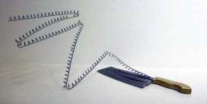 Beautiful Silhouettes Made of Butcher Knife's Cutout (12 photos) 6