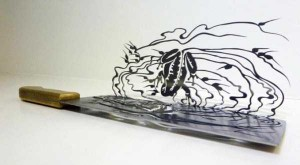Beautiful Silhouettes Made of Butcher Knife's Cutout (12 photos) 8