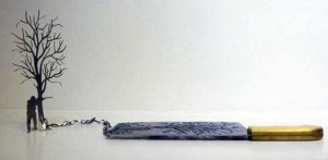 Beautiful Silhouettes Made of Butcher Knife's Cutout (12 photos) 9