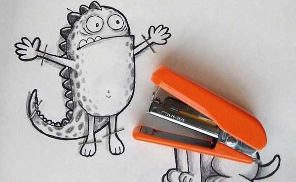 Adorable Doodles That Interact With Reality (19 photos) 20