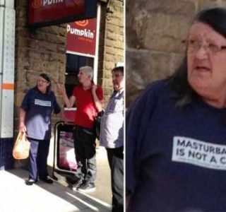 Elderly People Wearing T-shirts With Obscene Messages (27 photos)