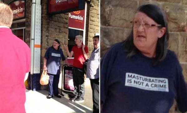 Elderly People Wearing T-shirts With Obscene Messages (27 photos) 14