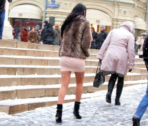 Girls Who Are Not Afraid of Cold Weather (34 photos) 12