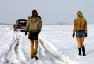 Girls Who Are Not Afraid of Cold Weather (34 photos) 4