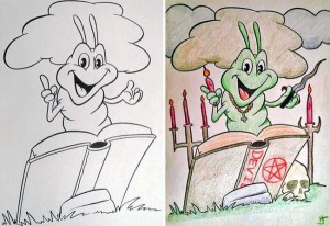 Innocent Coloring Books Ruined by Dirty Minded Persons (33 photos) 30