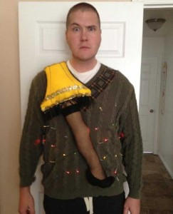 Ridiculously Ugly Christmas-Themed Sweaters (40 photos) 1