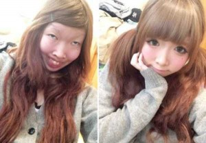 Japanese Girl Reveals Her Real Face (12 photos) 12