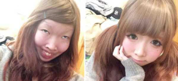 Japanese Girl Reveals Her Real Face (12 photos) 13