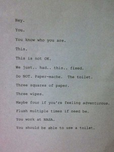 Seriously Funny Bathroom Notes and Signs (76 photos) 11