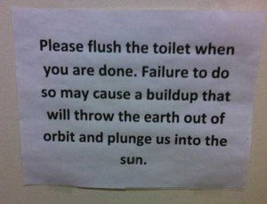 Seriously Funny Bathroom Notes and Signs (76 photos) 12