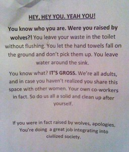 Seriously Funny Bathroom Notes and Signs (76 photos) 15