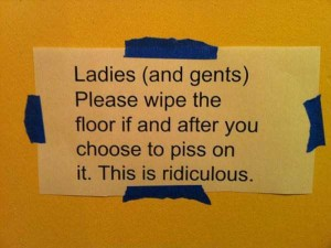 Seriously Funny Bathroom Notes and Signs (76 photos) 16