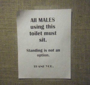 Seriously Funny Bathroom Notes and Signs (76 photos) 19